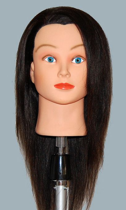22 Cosmetology Mannequin Head HUMAN Hair ^^ ABA