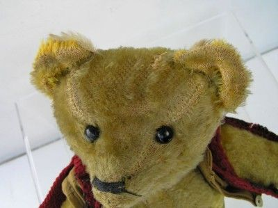 1912 Early American Teddy Bear Roosevelt Roughrider outfit 15 mohair