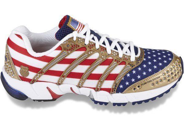Womens Kswiss K Ona S USA Flag Design Ultra Light Athletic Running