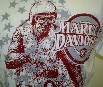 Harley Davidson Las Vegas Dealer Tee Shirt WHITE MEDIUM #BRAVA1