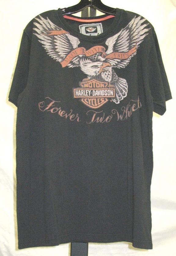 Mens Harley Davidson Black INK Line T Shirt 96539 10VM