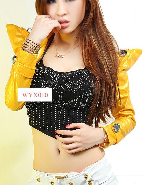 Leather Short Jacket/Bolero/Shrug Lady Gaga Style XS S M