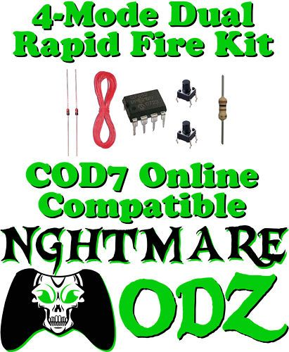 Xbox 360 Rapid Fire Mod Chip Kit CoD4 CoD6 Halo Gears