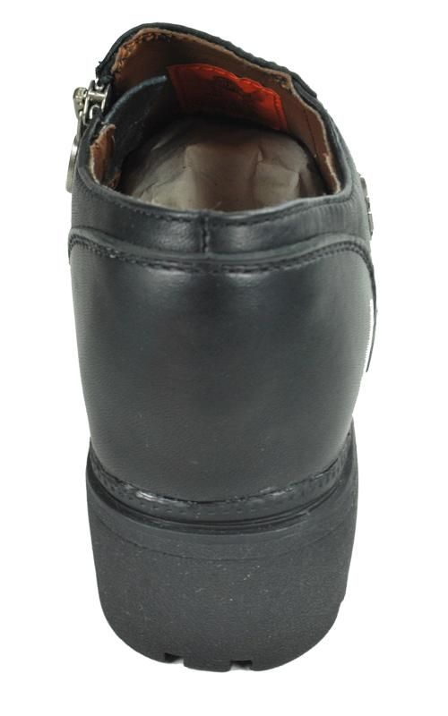 HARLEY DAVIDSON Siren Black Leather Casual Dress Shoes Women Size