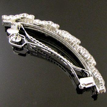SHIPPING, clear rhinestone crystal hair barrette clip wedding