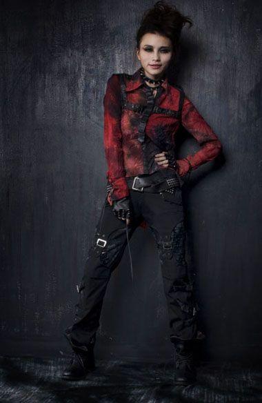 unisex rock fashion visual kei Japan trousers pants S M L XL XXL free