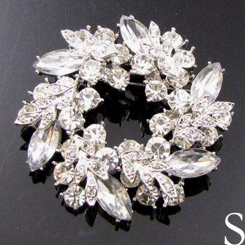 Item FREESHIPING Austrian rhinestone crystal Wreath Brooch Pin wedding